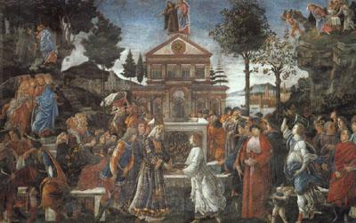 The Temptation of Christ, Sistine Chapel, Vatican
