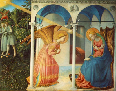 The Annunciation, now in the Prado