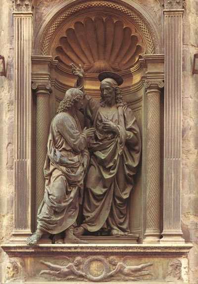 Christ and St Thomas, Orsanmichele