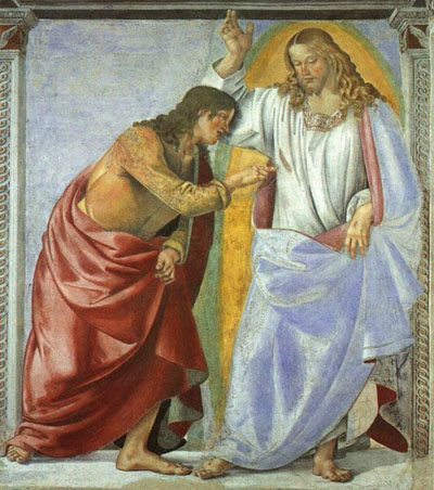 Christ and St Thomas, Basilica, Loreto