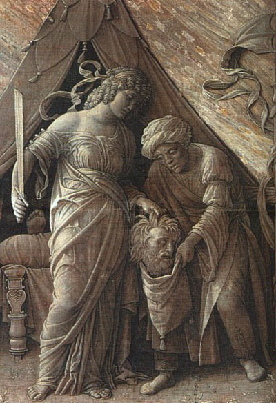 Judith and Holofernes, Grisaille