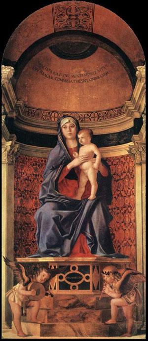 Virgin and Child, altarpiece, Santa Maria dei Frari, Venice