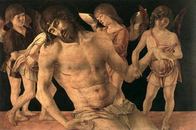 Dead Christ supported by angels, Pinacoteca Comunale, Rimini
