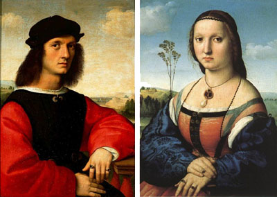 Portraits of Agnolo and Maddalena Doni