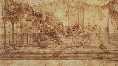 Perspective drawing for the Adoration of the Magi