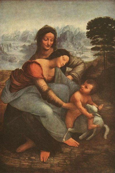 Virgin and Child with St Anne, Louvre