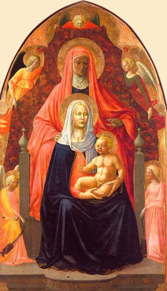 The Virgin and Child with St Anne, Uffizi