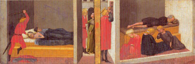 St Julian murders his father and mother; St Nicholas dowers the poor girls