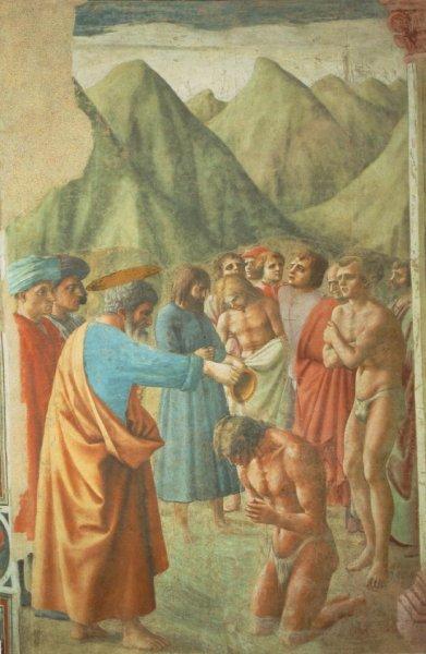 St Peter baptising