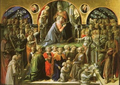 Coronation of the Virgin, Uffizi